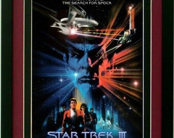 Search for Spock Star Trek 3 Movie Poster Custom Framed Print A+ Quality