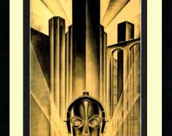 Fritz Lang Metropolis Movie Poster Framed & Mated  Finest Quality