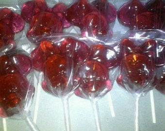 12 Minnie Mouse Lollipops