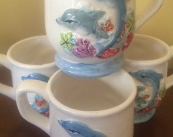 15% Off Kistchy Dolphin /Sea Coral Design Cups