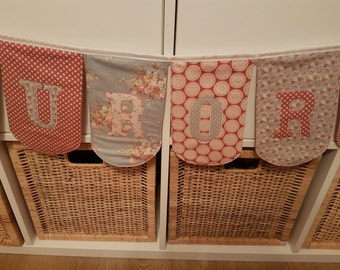 Personalised scallop Bunting per flag