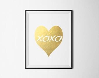 """A4 """"XOXO"""" Foil Print"""