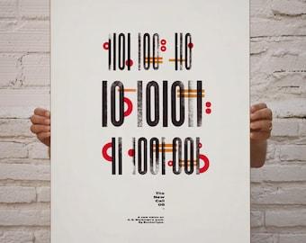 The New Call #08. Art & handmade letterpress. Typography.