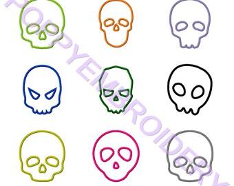APPLIQUE skull embroidery machine  designs  /applique  crane pour broderie machine / INSTANT DOWNLOAD