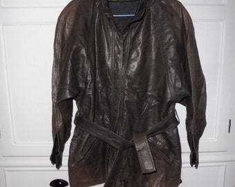 MC DOUGLAS leather jacket size M