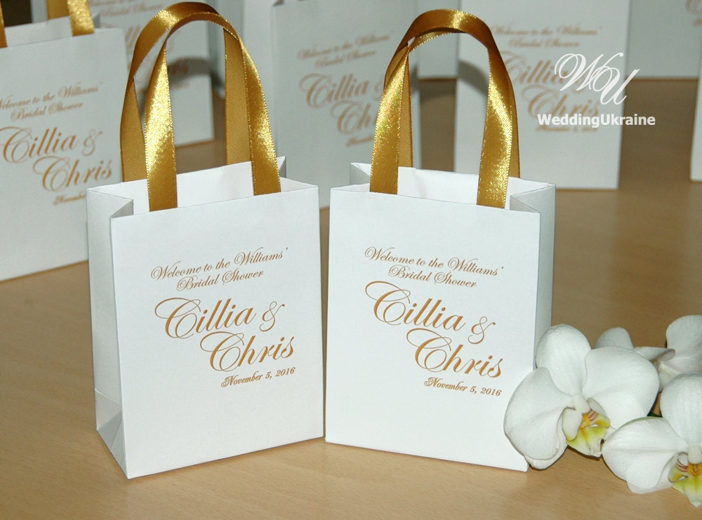 Engraved Wedding Party Gifts: Elegant Gift Bags Bridal Party Gift Bag Personalized With