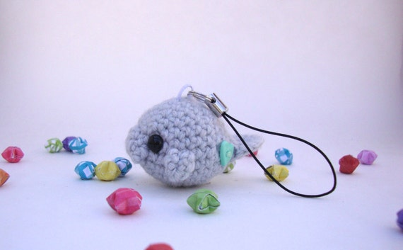 Crochet Amigurumi Manatee : Manatee keychain Crochet manatee cute keychain Amigurumi