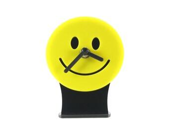 Yellow Smiley Desk Clock