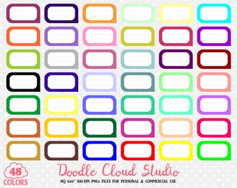 48 Colorful Labels Clipart Label Banner Stickers Icons PNG with Transparent Background for Personal & Commercial Use