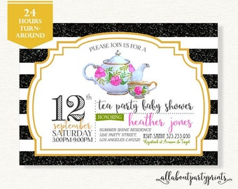 Baby/Bridal Shower Invitation -PDF printable- 24 hours turnaround-B011
