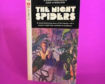 Vintage Sci Fi Book The Night Spiders by John Lymington Science Fiction Novel Retro Future Fantasy Literature 1965