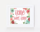 Home Sign : Entryway Decor, Home Sweet Home Sign, Mudroom Sign, Home Sweet Home Print, Mudroom Decor, Mud Room Decor, Entry Way Decor