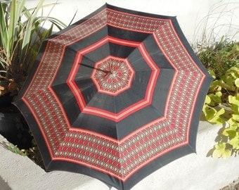 Umbrella Vintage pattern geometric year 70