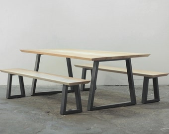 Stranger Table and Bench Set