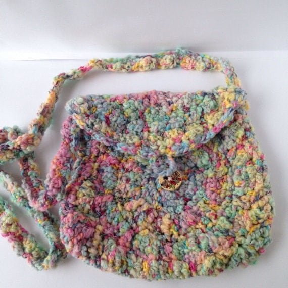 Crochet Boho Bag : Hippy boho bag, crochet shoulder bag, crochet bag, hippie bag, boho ...