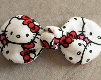Hellokitty Fabric Top Knot Hair Clip