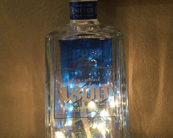 1800 Silver Tequila bottle light Lighted liquor bottle lamp Party decorations Husband Birthday Gifts for men Gift for him, guys, Boyfriend