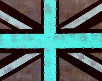 Union Jack Flag Grunge Pool Giclee Print