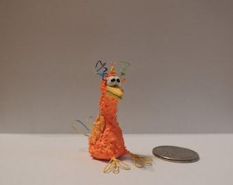 "Orange Bird Sculpture ""Chico"""