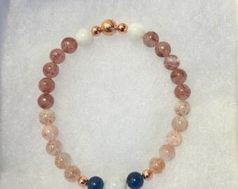 Relief From Headaches - Moonstone, Sunstone, Blue Apatite, Muscovite , Copper