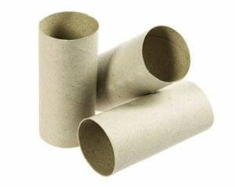 Cardboard rolls for crafting