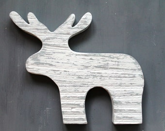 Hand-painted Reindeer Decoration
