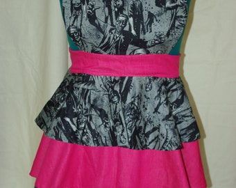 Three Tiered Ruffled Zombie Apron