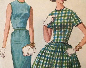 Classic 1950's Madmen Era Dress Pattern McCalls 6121
