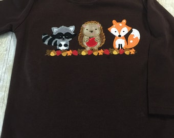 Forest Animals Peraonalized Fall Shirt