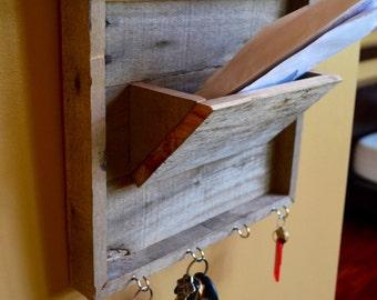 Pallet Mail Organizer. Entryway Organizer. Reclaimed Pallet Wood.