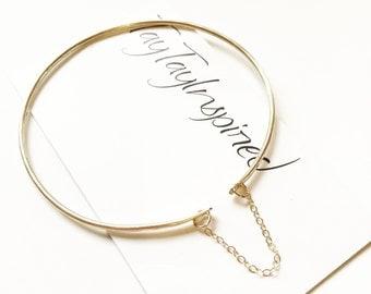 Gold Bracelet, Bangle Bracelet, Gold Delicate Bracelet, Stacking Bracelet, Gold Dainty Bracelet, Gold Bangle, Gift for her