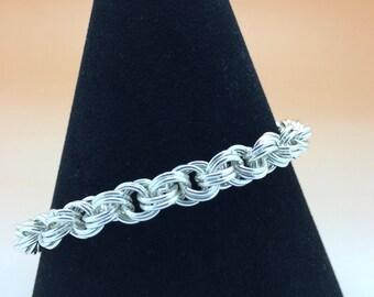 Sterling Silver Double Spiral Bracelet Hallmarked.