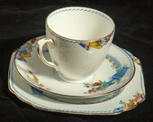 Vintage China  Pretty Dorset Salon ware china 3 pieces  tea cup saucer and  tea plate from the 20s or 30s