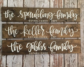 WALNUT family established wooden sign