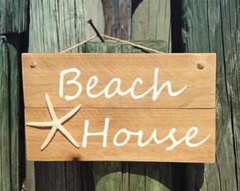 Starfish Sign, Beach House Decor, Cottage Beach Decor, Nautical Beach Sign, Beach House Wall Art, Coastal Wall Art, Outdoor Patio Sign