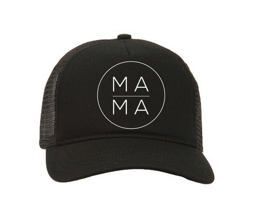 Mama Trucker Hat Mama Hat Mom Hat Black Mom Hat By