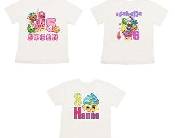 Shopkins t-shirt onesie Personalized shirt Customized Shopkins shirt onesie