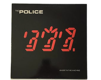 """The Police, """"Ghost in the Machine"""", vinyl record album, new wave LP, 1980s, sting, andy summers, stewart copeland"""