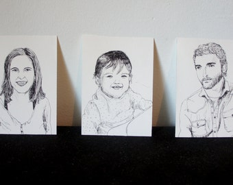 Mini-retratos family x 3 - mini family portraits
