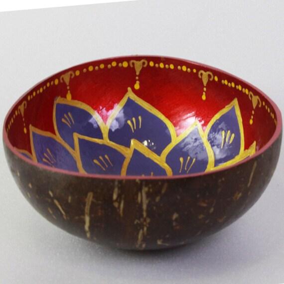 Classic Oriental Decorative Multipurpose Handmade Coconut Shell Bowl (PC 16)