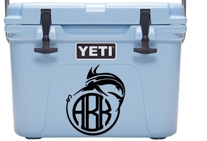 Monogram yeti cooler decal yeti decal yeti monogram for Fishing yeti decal