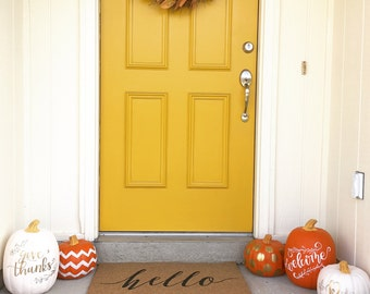Personalized Decorative Pumpkin
