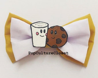 Milk and Cookies Cute Hair Bow Clip - (We Go Together Like...)