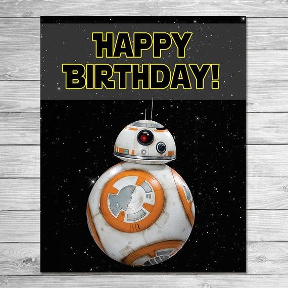 Items Similar To BB8 Happy Birthday Sign Force Awakens