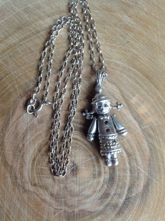 silver rag doll silver doll pendant silver doll by lousimart