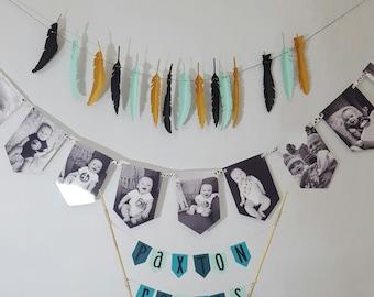 Arrow Newborn to 11 Month Photo Banner