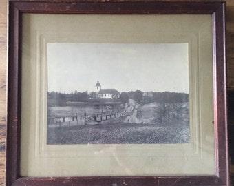 Vintage Framed Landscape Photo