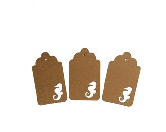 Seahorse Gift Tags
