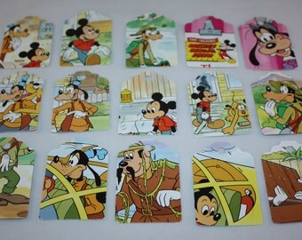 Die Cut Repurposed Disney's Mikey Mouse Show (Set of 12)