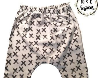 Monochrome Faded X Harem Shorts Infant Baby Toddler Child Custom-Handmade to order